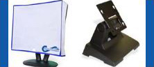 LCD Monitor Dust Cover and Rugged Bench Top Stand