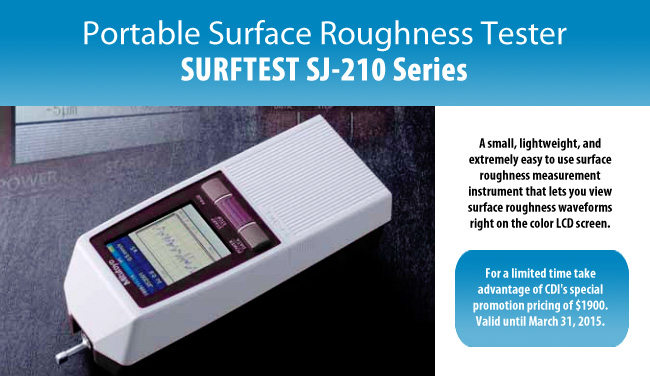 Mitutoyo Portable Surface Roughness Tester Surftest SJ-210 Series