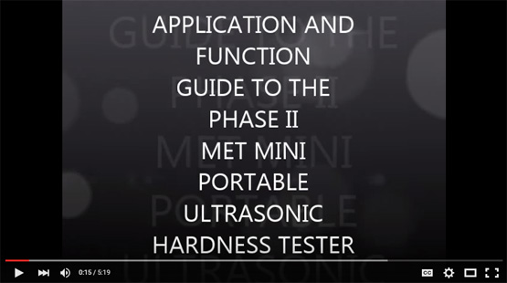 Watch the Phase II MET-mini Portable Hardness Tester in Action