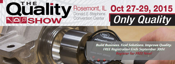 The Quality Show: Free Registration Ends September 30th. Register for FREE today.
