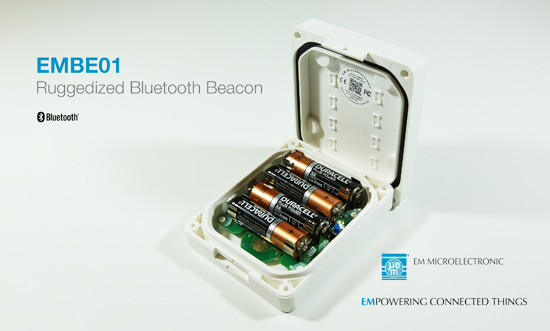 EMBE01 Ruggedized Bluetooth® Beacon with Long Battery Life