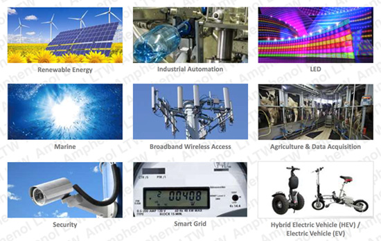 Amphenol LTW products serve applications that contribute to a safer and greener environment.