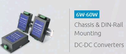 6W-60W Chassis & DIN Rail Mounting DC-DC Converters