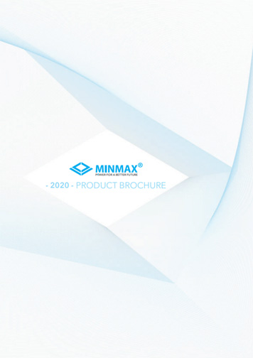 Download the MINMAX 2020 Product Brochure