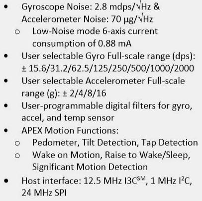 ICM-42688-P Features