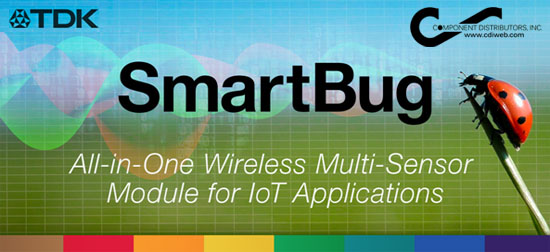 TDK SmartBug All-in-One Wireless Multi-Sensor Module for IoT Applications