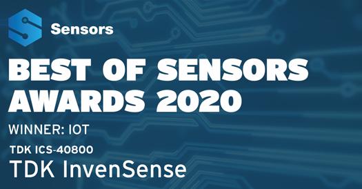 Best of Sensors Awards 2020 Winner IOT TDK ICS-40800
