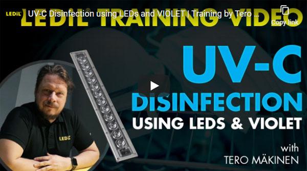 UV-C Disinfection Using LEDs & Violet.